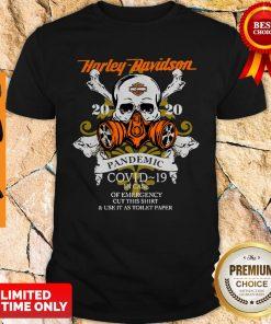Skull Motor Harley-Davidson Cycles 2020 Pandemic COVID-19 Shirt