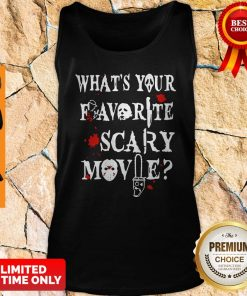 Official Ghostface Whats Your Favorite Scary Movie Tank Top