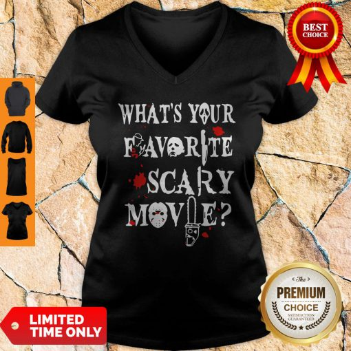 Official Ghostface Whats Your Favorite Scary Movie V-neck