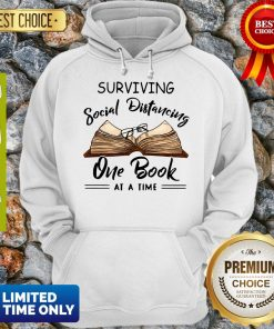 Official Surviving Social Distancing One Book At A Time Hoodie