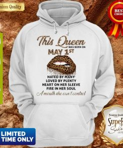 Lips Leopard This Queen Was Born On May 1st Hated By Many Loved By Plenty Hoodie