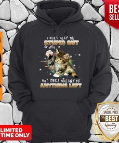 Cat I Would Slap The Stupid Out Of You But There Wouldn't Be Anything Left Hoodie