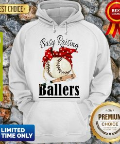 Awesome Baseball Busy Raising Ballers Bow Hoodie