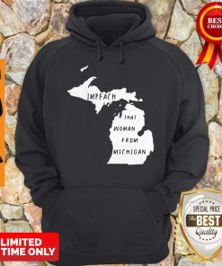 Impech That Woman From Michigan State Map Hoodie