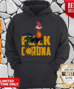 Official Chicken Hei Hei Fuck Coronavirus Hoodie