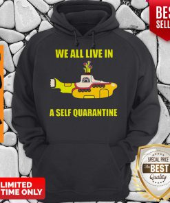 Official We All Live In A Self Quarantine Coronavirus Hoodie