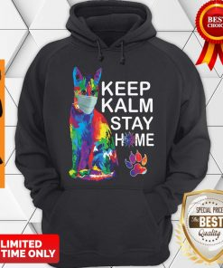 Cat Color Mask Keep Kalm Stay Home Coronavirus Hoodie