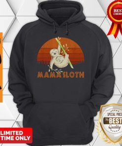 Official Mama Sloth Sunset Mother Day Hoodie