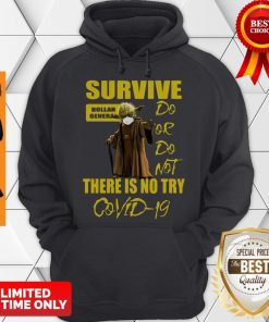 Star Wars Master Yoda Survive Dollar General Do Or Do Not There Is No Try Covid-19 Hoodie