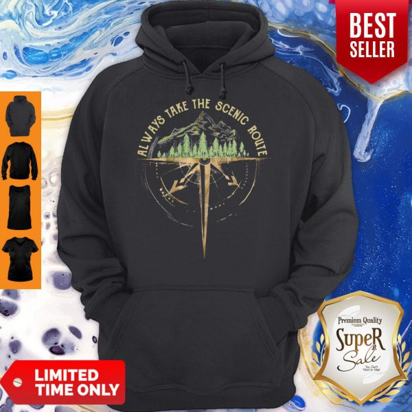 Official Always Take The Scenic Route Compass Hoodie