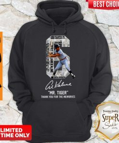 Albert William Kaline Signature Mr Tiger Thank You For The Memories Hoodie