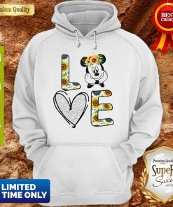 Official Love Mickey Mouse Sunflower Hoodie