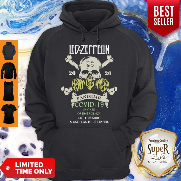 Skull Led Zeppelin 2020 Pandemic Covid-19 In Case Of Emergency Hoodie