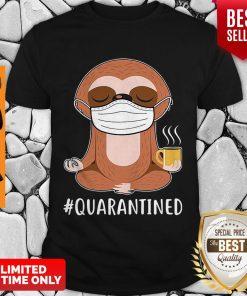 Offiical Sloth Wear Mask Doing Namaste #Quarantined Shirt