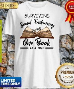 Official Surviving Social Distancing One Book At A Time Shirt