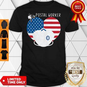 Official Heart American Flag Mask Postal Worker Shirt