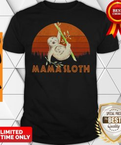 Official Mama Sloth Sunset Mother Day Shirt