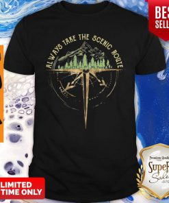 Official Always Take The Scenic Route Compass Shirt