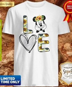 Official Love Mickey Mouse Sunflower Shirt