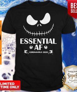 Official Jack Skellington Essential Af Coronavirus 2020 Shirt