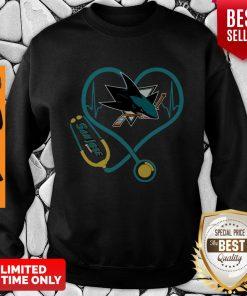 Official San Jose Sharks Nurse Stethoscope Heartbeat Sweatshirt