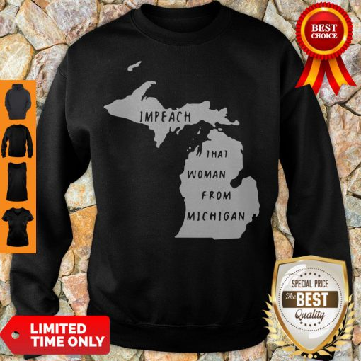 Impech That Woman From Michigan State Map Sweatshirt