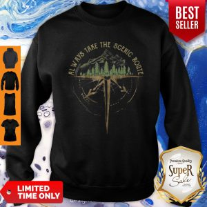 Official Always Take The Scenic Route Compass Sweatshirt