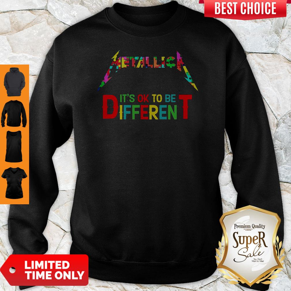 Official Metallica It's Ok To Be Different Autism Puzzle Sweatshirt