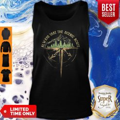 Official Always Take The Scenic Route Compass Tank Top