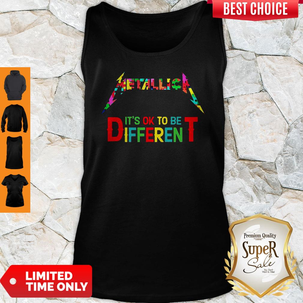 Official Metallica It's Ok To Be Different Autism Puzzle Tank Top