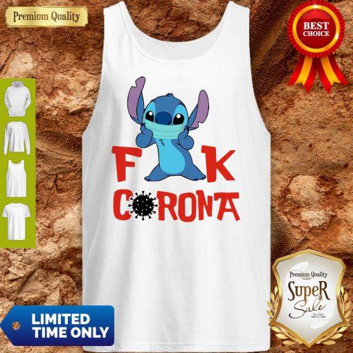 Official Stitch Fuck Corona Covid-19 Tank Top