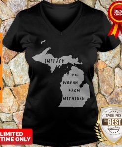 Impech That Woman From Michigan State Map V-neck