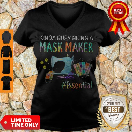 Awesome Kinda Busy Being A Mask Maker Essential Mask V-neck