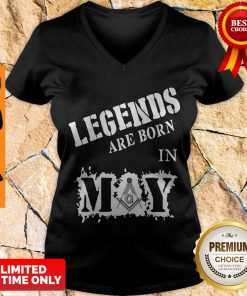 Official Legends Are Born In May V-neck