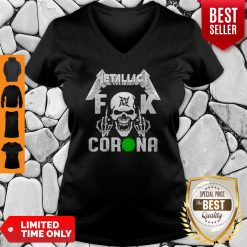 Official Skull Metallica Fuck Coronavirus V-neck