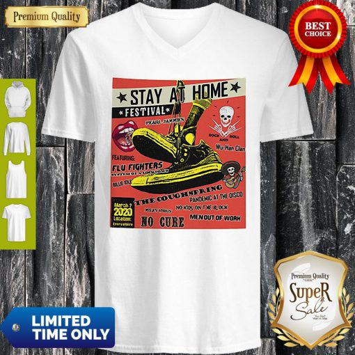 Stay At Home Festival Wu-Han Clan The Coughspring Covid-19 V-neck