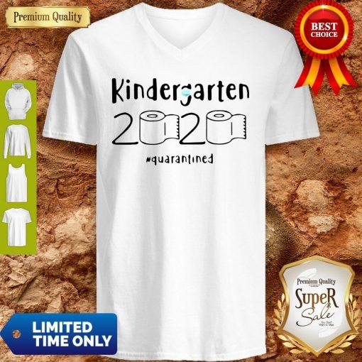 Kindergarten 2020 Quarantined Coronavirus V-neck