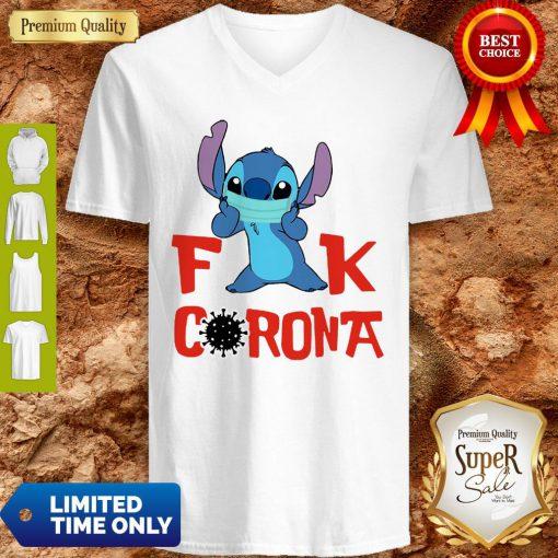 Official Stitch Fuck Corona Covid-19 V-neck