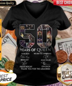 50 Year Of Queen We Are The Champions Thank You For The Memories V-neck