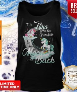 This Nina Loves Her Grandkids To The Moon And Back Unicorn Womens Tank Top