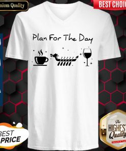 Awesome Plan For The Day Coffee Dragon Boat Wine V-neck
