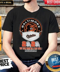 Baltimore Orioles Face Mask 2020 The Year When Shit Got Real Quarantine Shirt