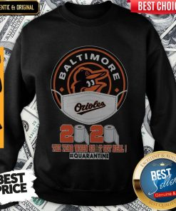 Baltimore Orioles Face Mask 2020 The Year When Shit Got Real Quarantine Sweatshirt