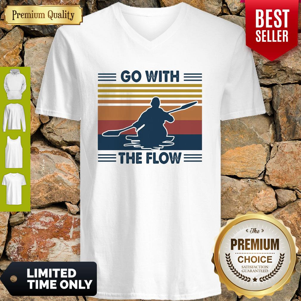 Boating Go With The Flow Vintage V-neck