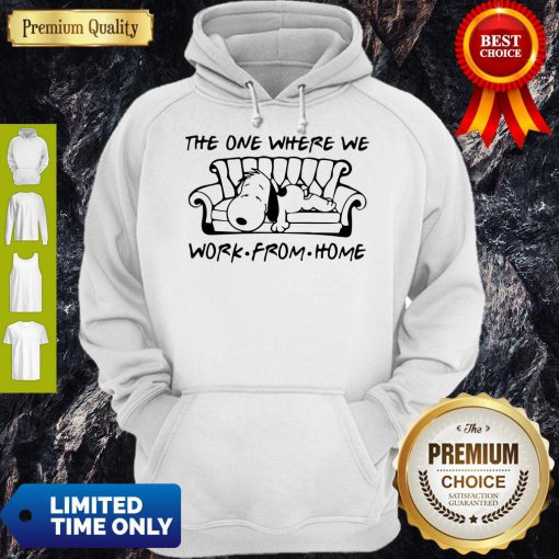 Funny Snoopy in Sofa the One Where We Work From Home Hoodie