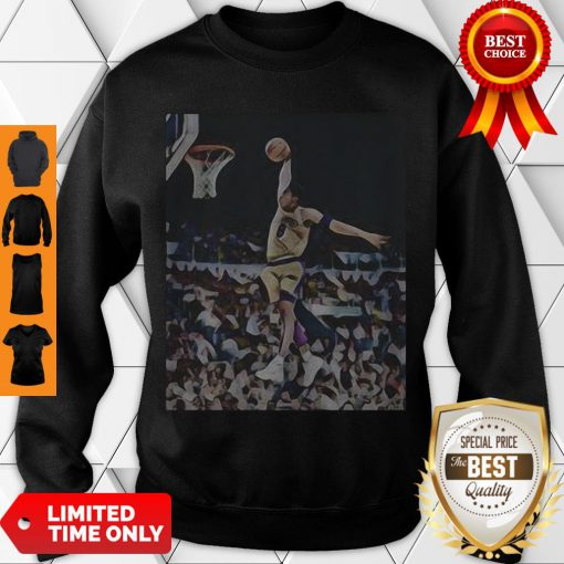 Nice Kobe Bryant Playing Basketball Los Angeles Lakers Team Sweatshirt