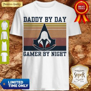 Premium Assassin's Creed Daddy By Day Gamer By Night Vintage Shirt