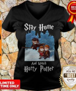 Premium Stay Home And Watch Harry Potter V-neck