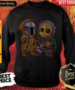 Pretty Baby Boba Fett And Baby Groot Sweatshirt