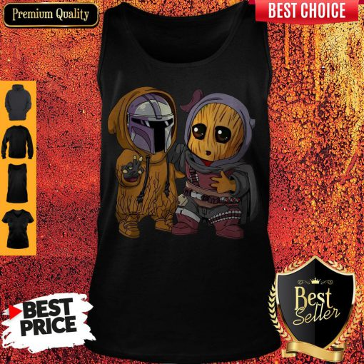 Pretty Baby Boba Fett And Baby Groot Tank Top